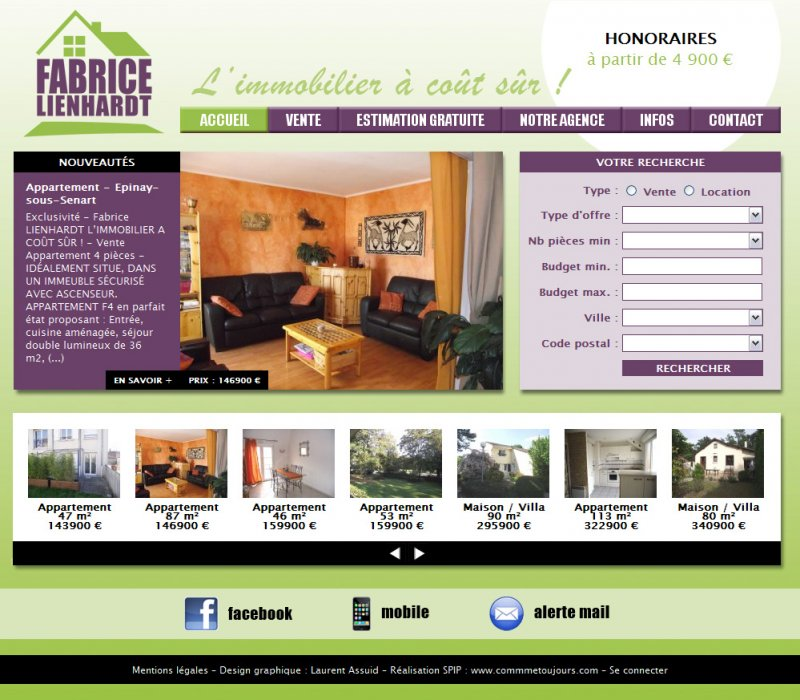 Fabrice lienhardt l immobilier co t s r comme for Cout immobilier